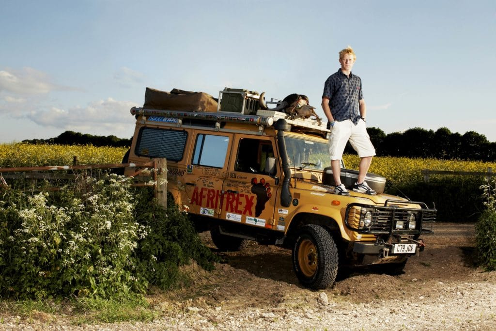 "Ben and his Land Rover ""Colonel Mustard"""